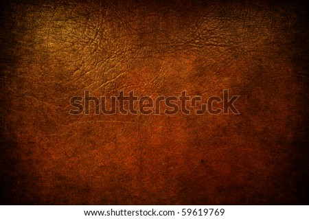 A grunge brown leather used like background - stock photo