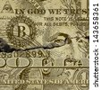 A Grunge Dollar Banknote Background - stock photo