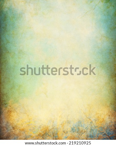A grunge paper background with cracks and stains.  Image displays a distinct paper grain and texture at 100 percent. - stock photo