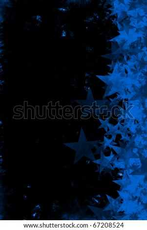 A grunge star background - stock photo