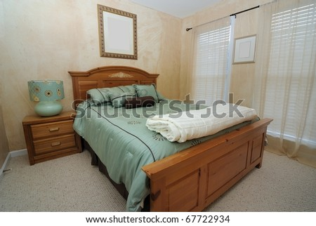 A guest bedroom in a house