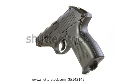 A gun isolated on a white background - stock photo