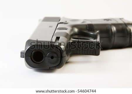 a gun on white background - stock photo
