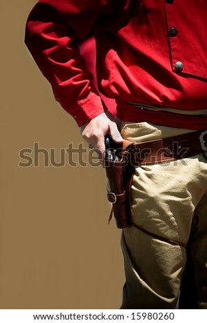 A gunfighter from Old Town Albuquerque, NM. - stock photo