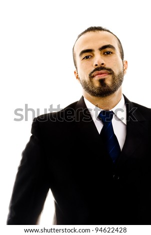 A guy in a suit looking tough - stock photo