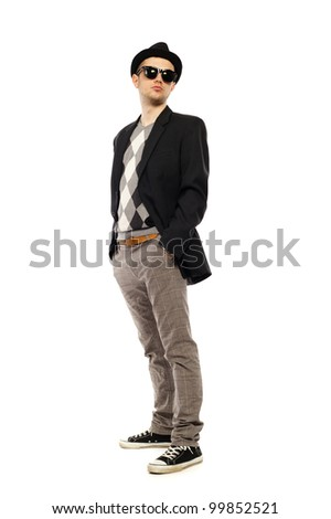 a guy on a white background - stock photo