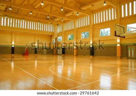 a gymnasium empty light high space