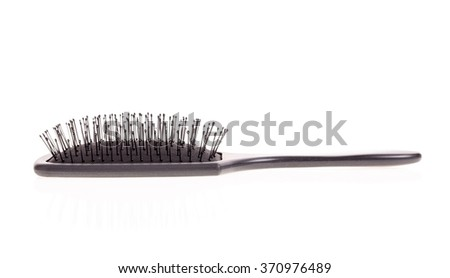 A hairbrush for women isolated on white background - stock photo