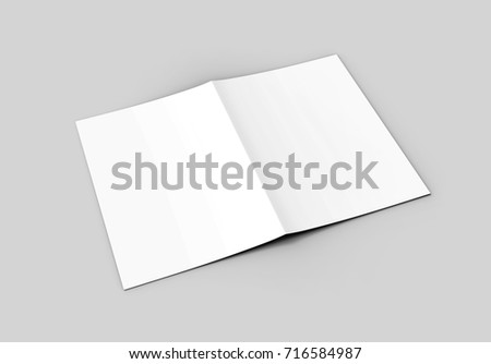 A Halffold Brochure Blank White Template Stock Illustration
