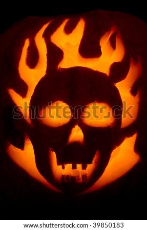 A Halloween pumpkin - stock photo