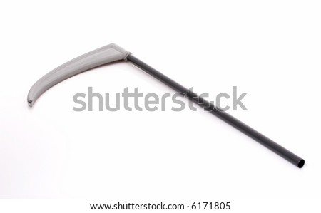 A halloween scythe blade isolated on a white background - stock photo