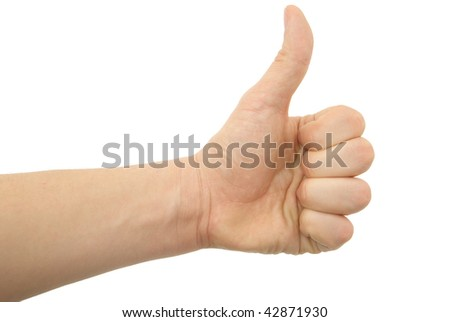 a hand photo, OK gesture - stock photo
