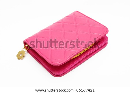 A Handbag on white background