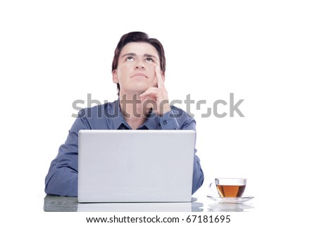 A handsome business - stock photo