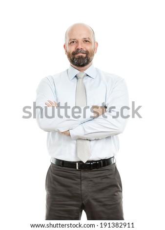 A handsome business man. - stock photo