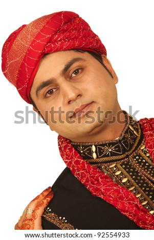 A handsome groom in full dress - stock photo