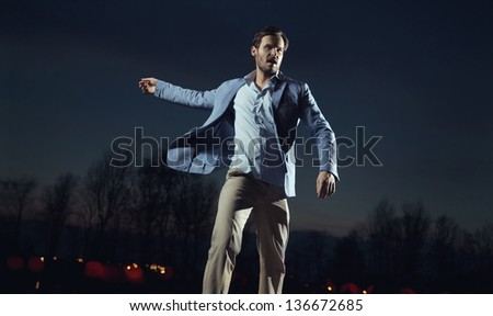 A handsome man - stock photo