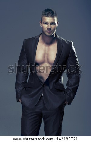 A handsome man in a suit - stock photo