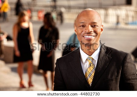A happy business man with a nice smile