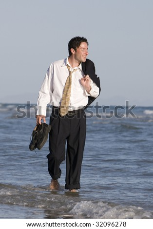 A Happy Businessman - stock photo