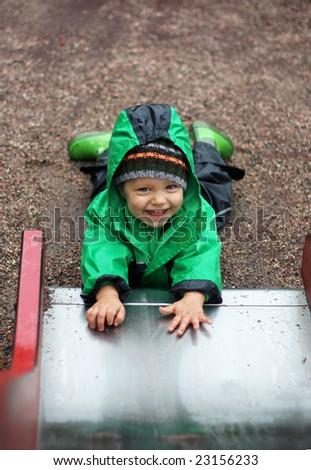A happy child - stock photo