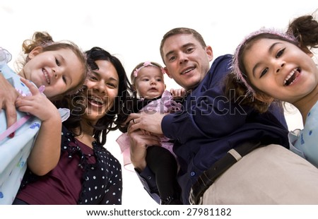 A happy family. Bonding, Love, marriage, children