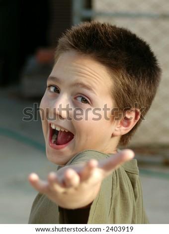 A happy kid. - stock photo