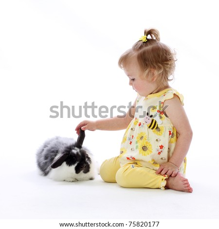 A Happy Little Girl - stock photo