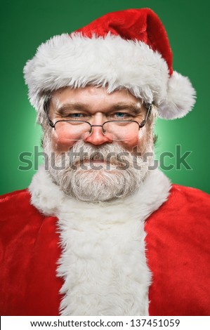 A happy, smiling Santa Claus. - stock photo