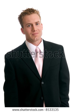 A happy young businessman - stock photo