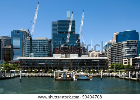 A harbour scene, Darling Harbour, Sydney, New South Wales, Australia - stock photo