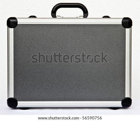 a hard stainless steel case - stock photo