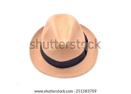 A hat isolate on white background - stock photo