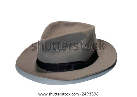 a hat on white background - stock photo