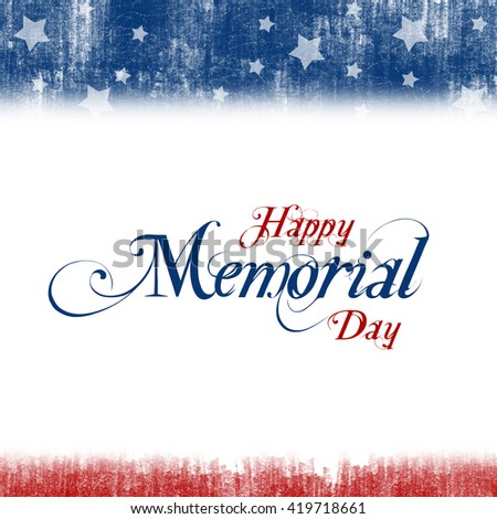 A header footer illustration with United States flag colors for Memorial Day - stock photo