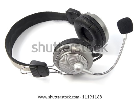 a headphone, isolated on a white background