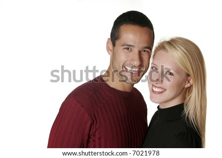 A headshot of the perfect American couple - stock photo