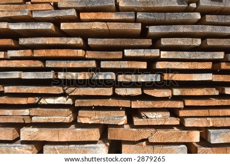 A heap of board - stock photo