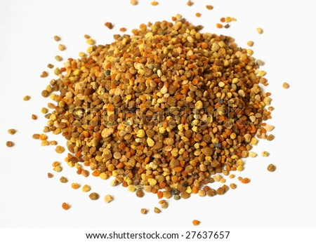 A heap of multi-colour propolis - a product of bees - stock photo