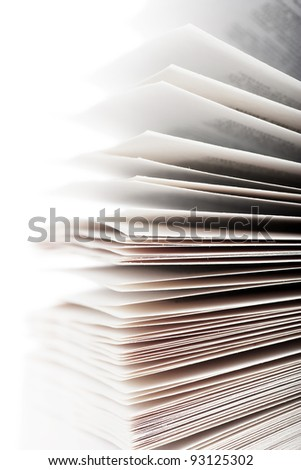 A heap of pages of opened book - stock photo