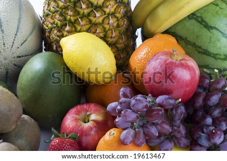 A heap of tropical fruits