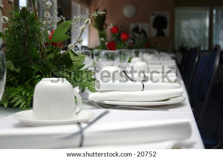 A Hi-Res picture of a formal banquet. - stock photo