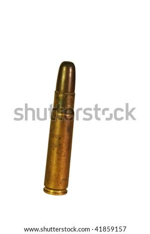 A high caliber rifle bullet - stock photo