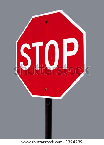 A high quality metal stop sign close up image - stock photo