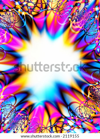 A high resolution, computer generated, fractal design that simulates an invitation or greeting card design for a celebration (such as a birthday, shower, or engagement). - stock photo