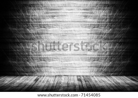 a high resolution creative wooden stage - stock photo