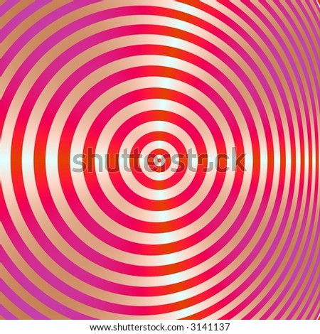 A high resolution fractal simulates a bullseye, which can be used for business concepts such as hitting the mark, and winning strategies.