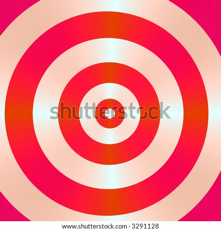 A high resolution fractal simulating a bullseye, which can be used for business concepts such as hitting the mark, and winning strategies.