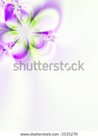 A high resolution fractal simulating a flower invitation for weddings, showers, or other special events (such as Mother's Day, Easter, or Valentine's Day). - stock photo