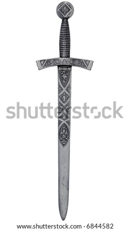 A highly detailed ornamental dagger isolated on white with clipping path.